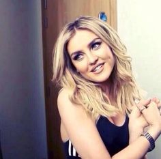 Listening to about the boy right now and Perrie's high note is CRAZY! Seriously though how does that voice come out of this adorable human being?!