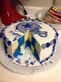 Shawns Birthday Cake First Checkerboard Dallas Cowboys Cowboy Cakes