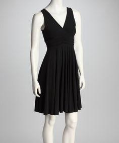 {Black Surplice Dress by Avital}