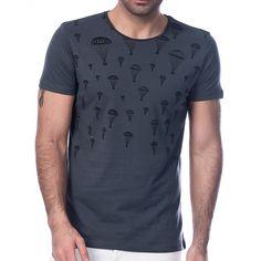 Scorp Graphics Parachute Baskılı Erkek Tişört