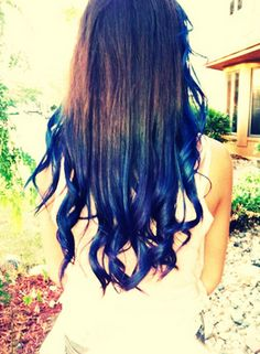Blue Ombre Hair !