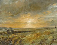 Hampstead Heath, looking towards Harrow at Sunset - John Constable  1823  English 1776-1837   Oil on Canvas   Private Collection