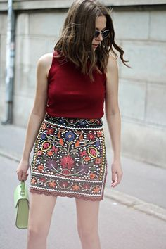 Beautiful skirts from $33.90 - Now Available in Store at Pasaboho. Fashion trend and styles from hippie chic, modern vintage, gypsy style, boho chic, hmong ethnic, street style, geometric and floral outfits. We Love boho style and embroidery stitches. Hippie girls with free spirit sharing woman outfit ideas and bohemian clothes, cute dresses and skirts.