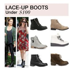 """""""Under $100: Lace-Up Boots"""" by polyvore-editorial ❤ liked on Polyvore featuring Call it SPRING, Avenue, ALDO, Steve Madden, Madden Girl, Topshop, LaceUpBoots and under100"""