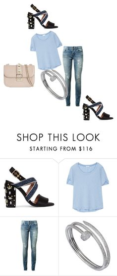 """""""Untitled #531"""" by nikkirozaye ❤ liked on Polyvore featuring Marni, Splendid, Yves Saint Laurent, Cartier and Valentino"""
