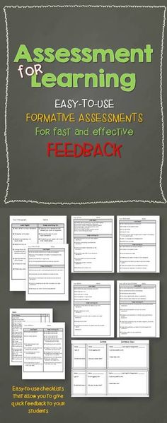 for Learning: Easy-to-use Checklists for Fast Assessment Easy-to-use checklists for fast formative assessment!Easy-to-use checklists for fast formative assessment! Formative Assessment Strategies, Assessment For Learning, Teaching Strategies, Teaching Tips, Formal Assessment, Teacher Tools, Teacher Resources, Visible Learning, Renz