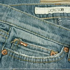 JOES'S JEAN Low raise awesome summer nights! This is a fantastic pair of Joe's  jeans Factory  distressed in great used condition. Super comfy great with any outfit! thank you for looking please make an offer! INSEAM 32! Joe's Jeans Jeans Flare & Wide Leg