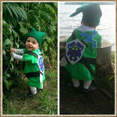 DIY Baby Link Costume -- Make a felt shield to be worn on the back.
