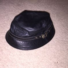 Coach leather bucket hat Black leather bucket hat by coach. Excellent condition. Coach Accessories Hats