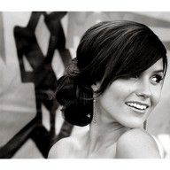 Love this up-do. Thinking of getting my bangs cut like this