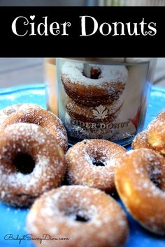 These Cider Donuts were inspired by the Cider Donut Candle from #bathandbodyworks . PLUS they are done within 20 minutes and they are baked!