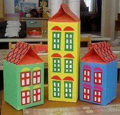 Идеи для творчества и подарков своими руками   ВКонтакте Tulle Crafts, Diy And Crafts, Arts And Crafts, Cardboard Crafts, Paper Crafts, Milk Carton Crafts, Diy For Kids, Crafts For Kids, Recycled Toys