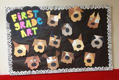 Dogs bulletin board.  SO CUTE!!!!!