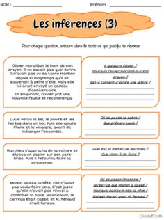 Comprendre l'implicite dans un texte Learn French Beginner, French For Beginners, Teaching Kids, Kids Learning, Apple School, French Articles, High School French, Teachers Corner, Cycle 3