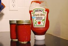 """Homemade Ketchup - Basic ingredients; """"Tastes like ketchup!"""" Water bath processed, based on recipe in canning book"""