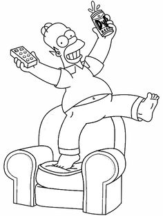 the simpsons coloring pages  | Homer Color Ins»»