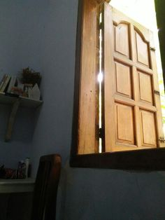 Wood windows in my room