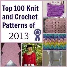 The best free knit and crochet patterns from 2013