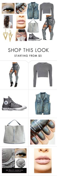 """Grey"" by madison-janetx on Polyvore featuring Glamorous, Converse, Maison Margiela, LASplash, women's clothing, women, female, woman, misses and juniors"