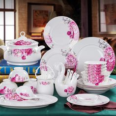 http://g01.a.alicdn.com/kf/HTB1NbQIHFXXXXXtaXXXq6xXFXXXD/Fu-Ji-porcelain-Jingdezhen-chinaware-56-bone-china-tableware-suit-Korean-dishes-discs-with-swan-basket.jpg