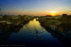 The dawn on Ganh Hoa river, Ca Mau. #vietnam #beautiful #river #dawn #nature #drivevietnam #airport #transfer