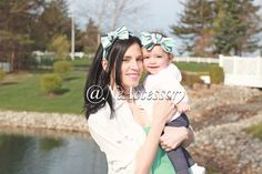 Mommy and Me Bow Head wrap  Fabric Head wrap Fabric by NeAccessory