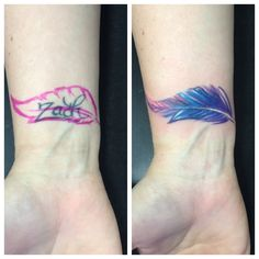 Tattoo, cover up, feather,