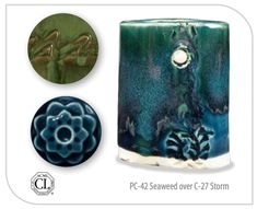 Like the beautiful ancient glazes they are modeled after, the AMACO Celadon glazes are glossy, transparent, and pool beautifully to add vivid accents to texture Glazes For Pottery, Pottery Mugs, Ceramic Pottery, Ceramic Art, Make Your Own Pottery, Pottery Making, Ceramic Glaze Recipes, Clay Plates, Pottery Patterns