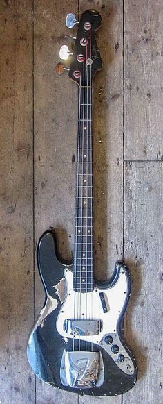 All original 1966 Fender Jazz bass in Black
