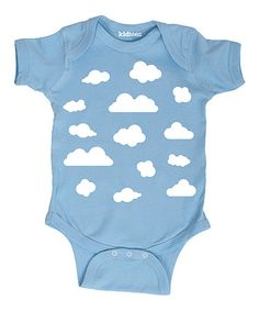 Loving this Light Blue Allover Clouds Bodysuit - Infant on #zulily! #zulilyfinds
