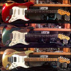 #fendercustomshop #fender #heavy #relic #stratocaster #colorovercolor Guitar Pics, Jazz Guitar, Guitar Amp, Cool Guitar, Guitar Room, Fender Stratocaster, Gretsch, Fender Acoustic Guitar, Fender Guitars