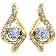 Diamond Drop Earrings In 14k Gold