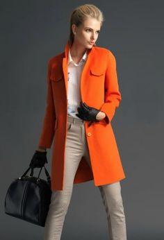 Kleidermädchen - Orange Herbst Winter Trend