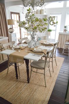bb0de9e835c Enjoy a Simple Spring Cottage Farmhouse Easter Table with this easy