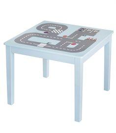 Kids Concept, Turbo, Pöytä tiekuviolla, Sininen/harmaa netistä. Lekmer.fi - verkkokaupasta