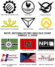 "2017: (Some ) Symbols and Logos of White Nationalists, Neo-Nazis, and the Alt-Right (mostly in the US)• TRADITIONALIST WORKER PARTY: ""The Traditionalist Worker Party is a white nationalist group that advocates for racially pure nations and..."