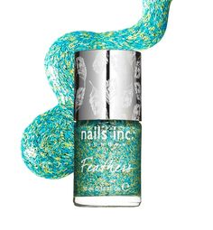 Nails Inc. Feathers in Brighton - packed with tiny colored fibres, this nail polish creates a beautiful feathery effect.