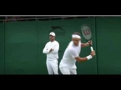 7 Time Wimbledon Champion Federer Warms Up Before The 2017 Finals With M...