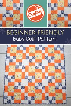 We're going ga-ga over this cute, FREE baby quilt pattern! Isn't it the perfect way to use up those bright, bold scraps of yours? And it's beginner-friendly, so it comes together in a flash.