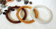 Silver Gold Copper Lined Color Bracelet  by LoraMarMagicBeads