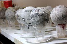 Paper Mache Light-Up Globe