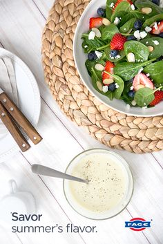 Try this Light Vinaigrette Dressing made with FAGE Total for a summer salad dressing that is both light and refreshing.