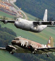 C-130J Super Hercules & Douglas C-47 Skytrain ~ BFD