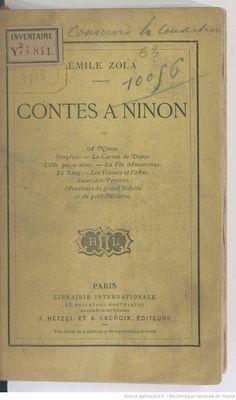 Emile Zola, Contes à Ninon
