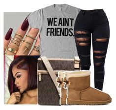"""""""Untitled #709"""" by sipping-gold ❤ liked on Polyvore featuring MICHAEL Michael Kors and UGG Australia"""