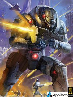 #actionpose #battle #guns #robot #scifi #war #applibot #galaxysaga #videogameart #gameart