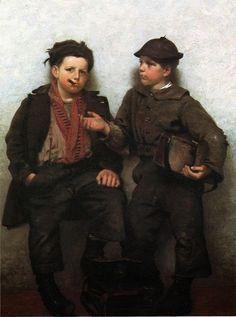 Impressioni Artistiche : ~ John George Brown ~ American painter, 1831-1913