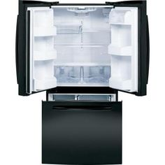 GE 22.1 cu. ft. French Door Refrigerator in Black - GNE22GGEBB at The Home Depot