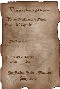 Invitación fiesta pirata Mauro
