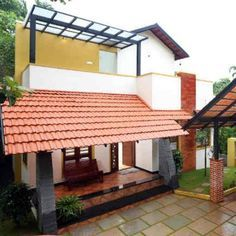 Modern Small House Design, Simple House Design, House Outside Design, House Front Design, Indian Home Design, Kerala House Design, Beautiful House Plans, Dream House Plans, Village House Design
